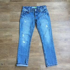 Bayla skinny, distressed Aeropostale jeans